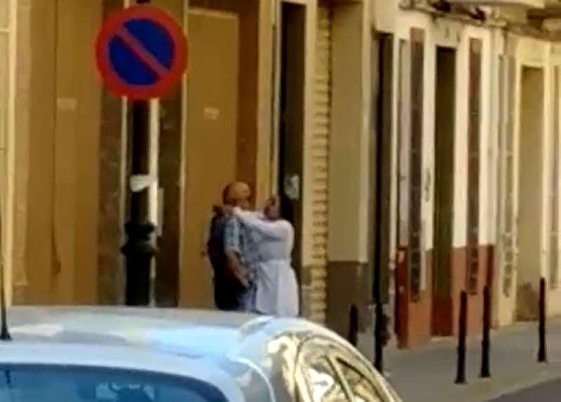 Imagen del robo ocurrido en la calle Castellón