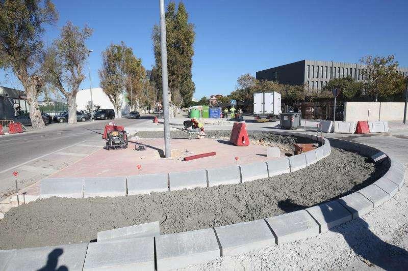 Imagen de obras en las carreteras provinciales de Alicante. EFE/Diputación Alicante