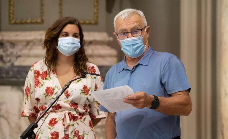 El alcalde de València, Joan Ribó, y la vicealcaldesa, Sandra Gómez. EFE