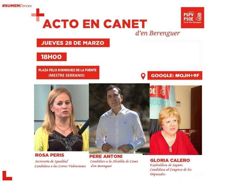 Cartel del acto de Canet d