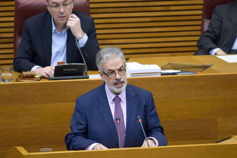 Domingo Rojo, diputado de Ciudadanos durante su intervención