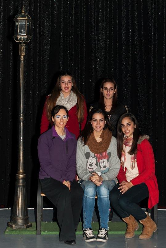 Las cinco triunfadores en el Circo de la Plaza. FOTO ISAAC FERRERA