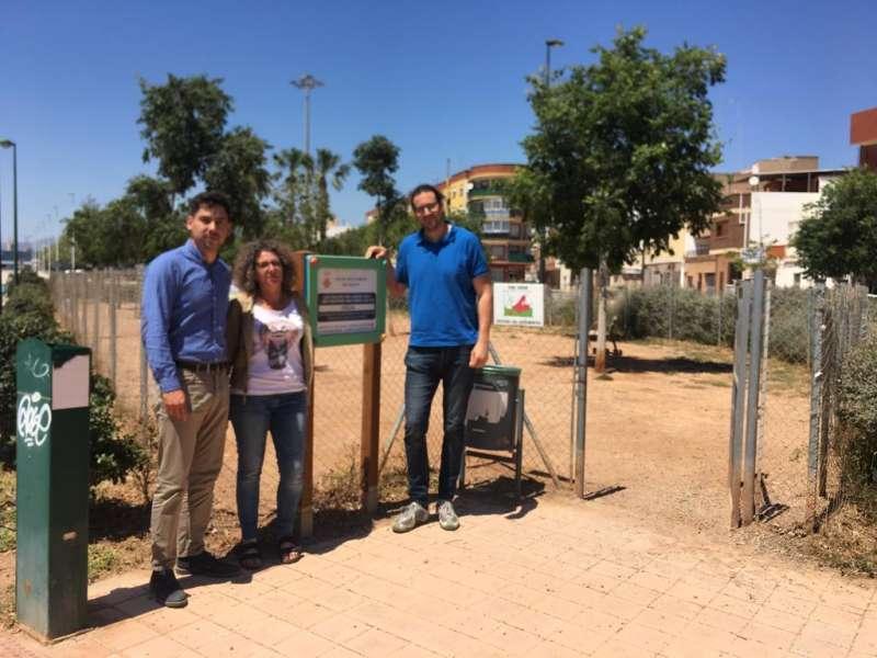 Los candidatos de EU en un pipican del municipio. EPDA