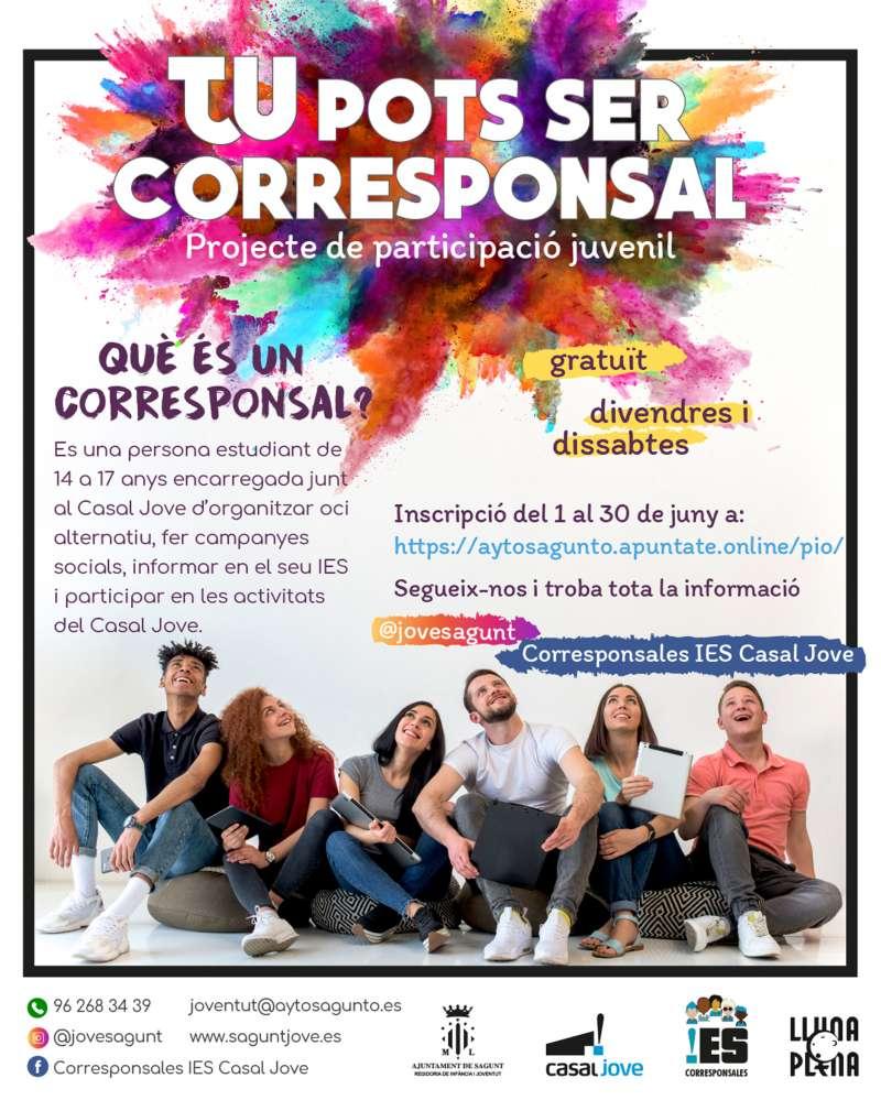 Programa de corresponsales de Juventud e Infancia.