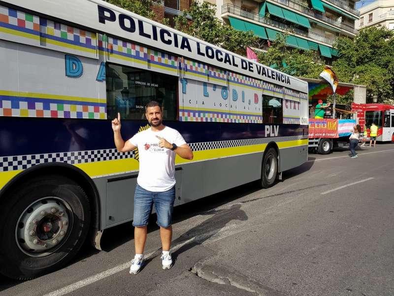 La Policía Local de Valencia y otras fuerzas de seguridad se suman a la participación en la manifestación. FOTO EPDA