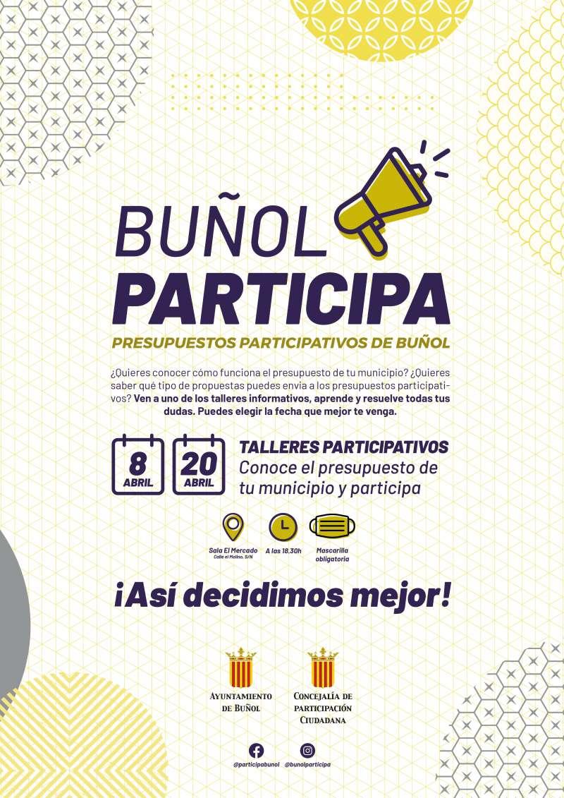 Cartel Buñol Participa