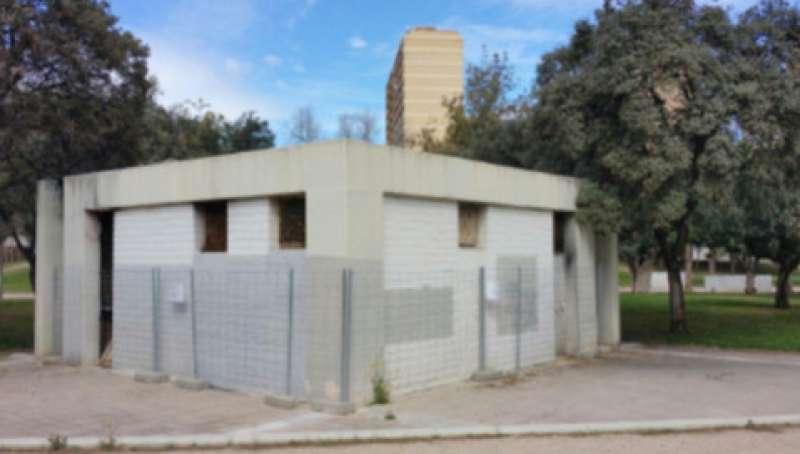 Vista exterior del diseño de los baños para el Jardín del Túria de València. EPDA