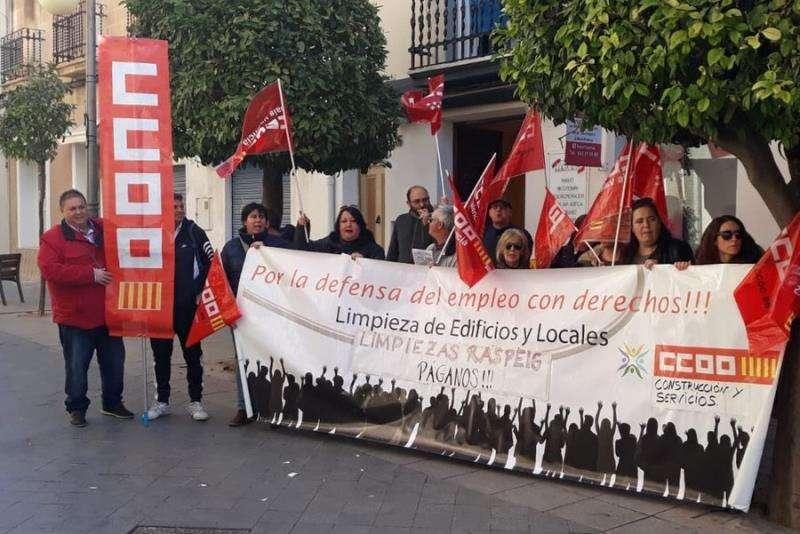 Una de las protestas de las limpiadoras. EFE/CCOO