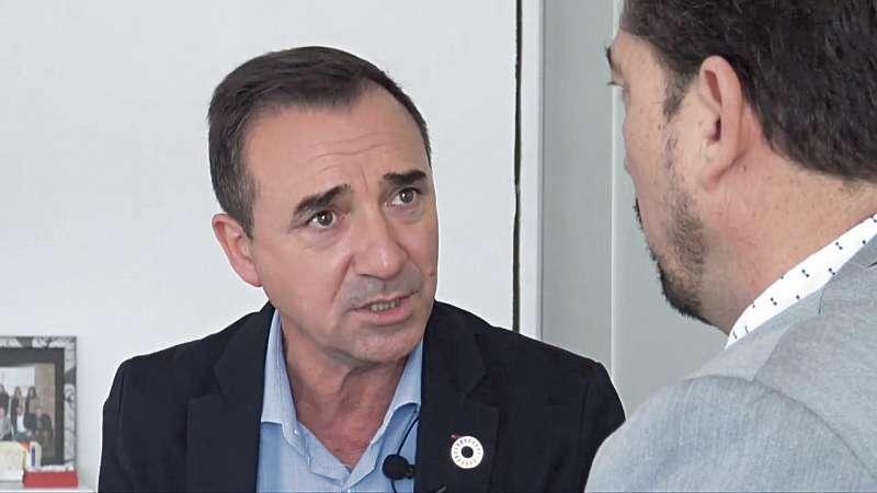 Robert Raga durante la entrevista