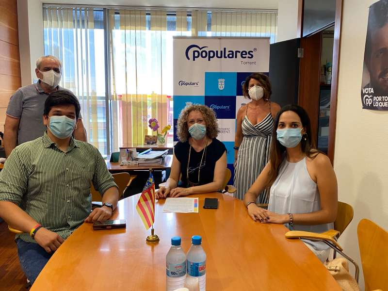 Folgado recibe a una delegación de Frente Amplio Venezuela./ EPDA