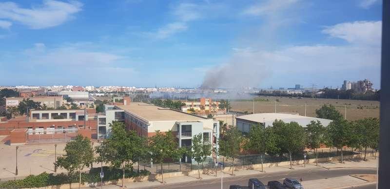 Imagen del incendio. EPDA