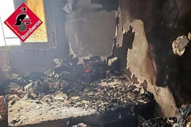 Imagenes del incendio. EPDA