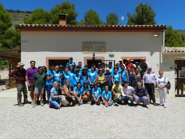 En los trabajos participan jóvenes con discapacidad de Ibi junto a jóvenes europeos y de otras comunidades autónomas. FOTO: GVA