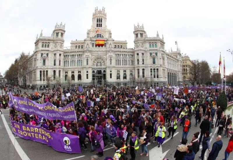 Manifestación del 8M en 2020