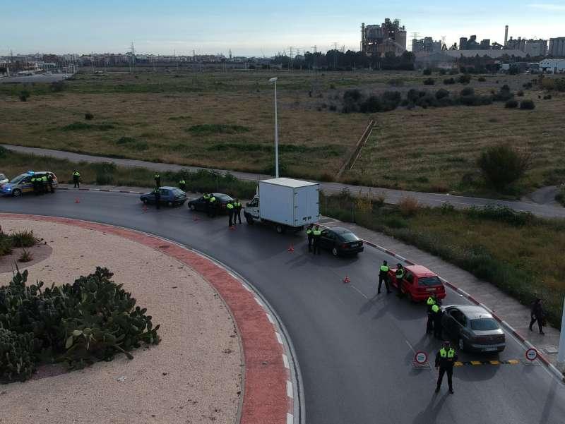 Control de la Policía Local de Sagunt. EPDA