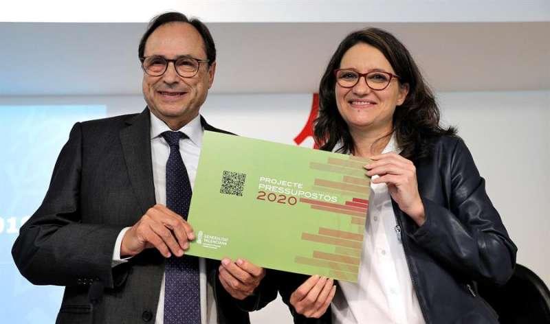 La vicepresidenta del Consell, Mónica Oltra, y el conseller de Hacienda, Vicent Soler, en una imagen de archivo. EFE