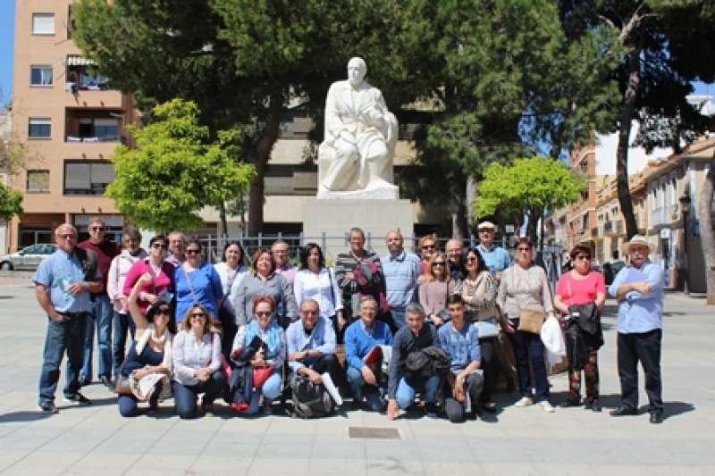 Participantes en la ruta en Burjassot. EPDA
