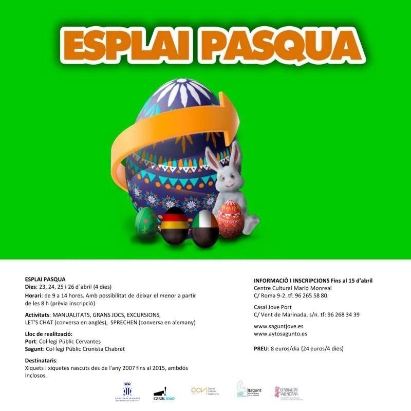 Cartel del programa Esplai Pasqua. EPDA
