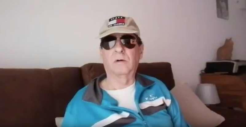 Captura del vídeo que se había grabado el detenido