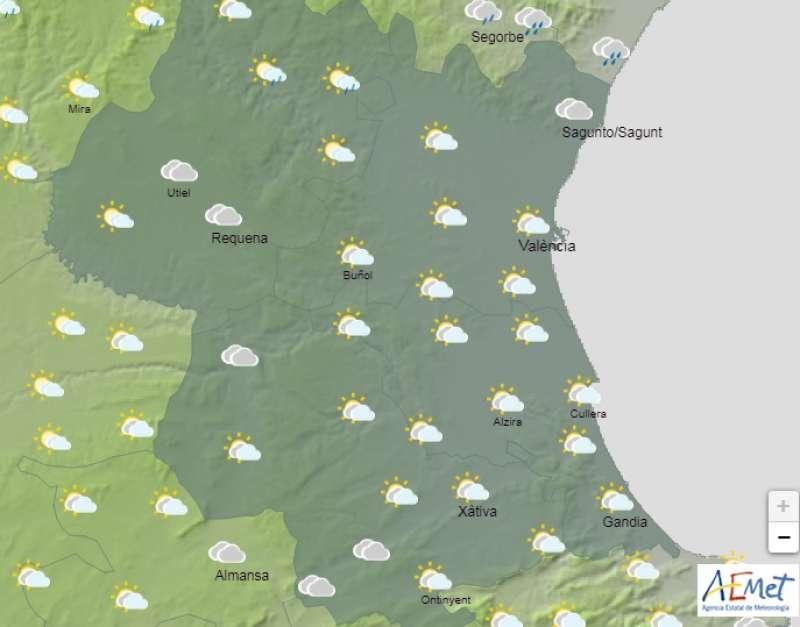 Previsión del tiempo del día 1 de mayo en Valencia