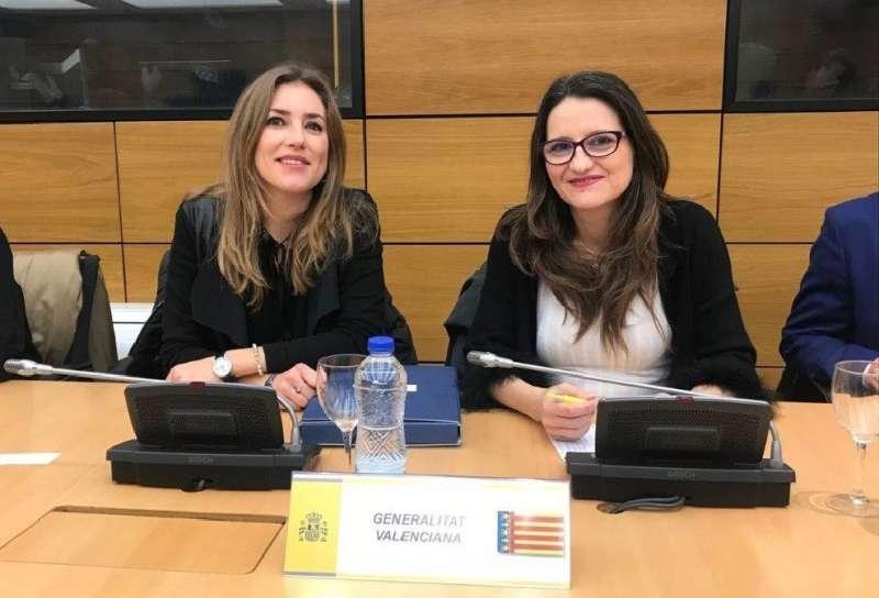 Oltra en la reunión de la Conferencia Sectorial de Igualdad en Madrid.