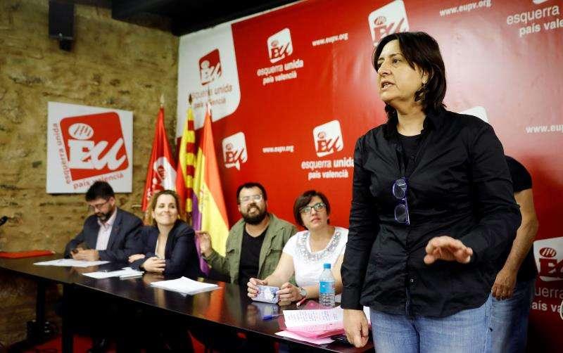 La coordinadora de Esquerra Unida del País Valencià (EUPV), Rosa Pérez. EFE/Archivo