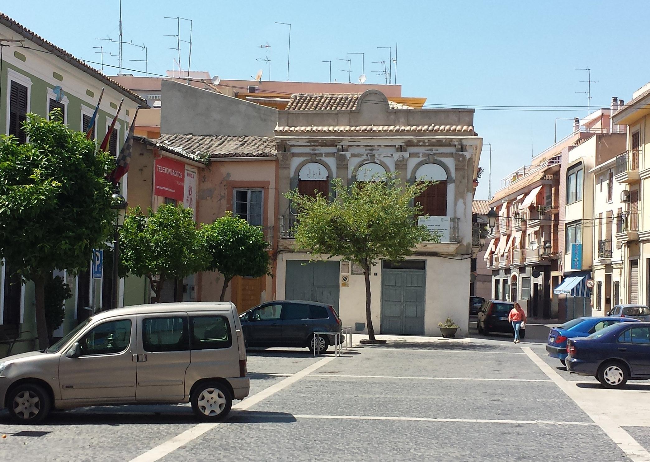Imagen actual del casino ubicado en la plaza del Pueblo de Paterna.