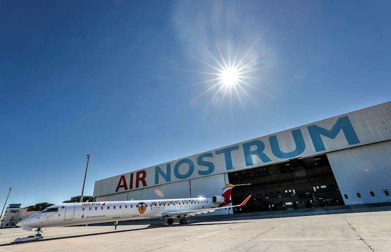 Una de las instalaciones de la compañía Air Nostrum en València. EFE