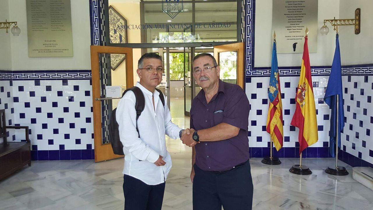 Javier Arnal en uno de sus últimos actos como alcalde. EPDA