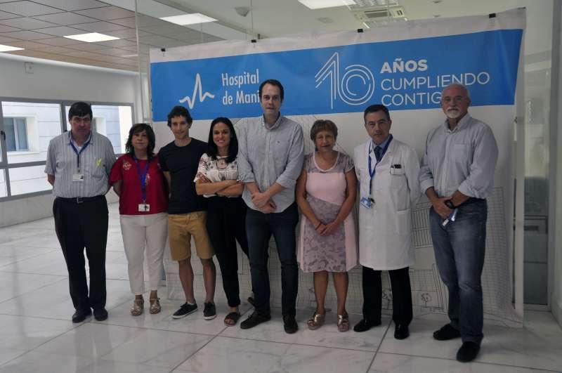 Durante el acto de firma del convenio entre el Ayuntamiento de Cheste y el Hospital de Manises.  ?