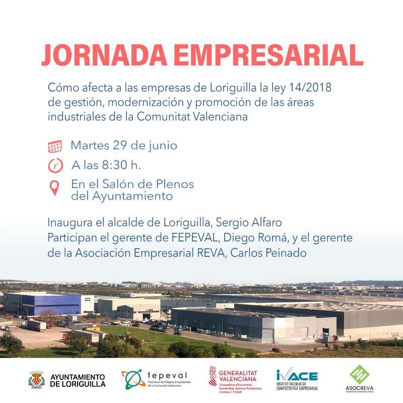 Cartel de la jornada empresarial. EPDA.