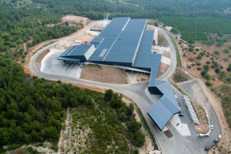 Vista aérea de la planta de residuos de Algímia. EPDA
