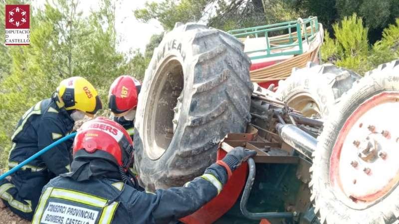 Los bomberos del Consorcio en Matet