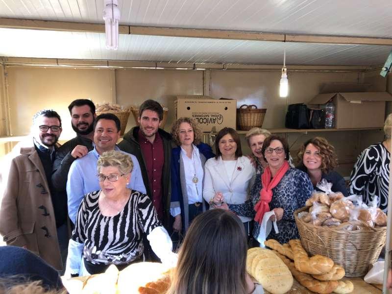 Bonig en su recorrido por la Feria de Sant Blai. EPDA