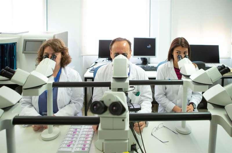 Investigadores médicos en una imagen de archivo del Hospital Vall d