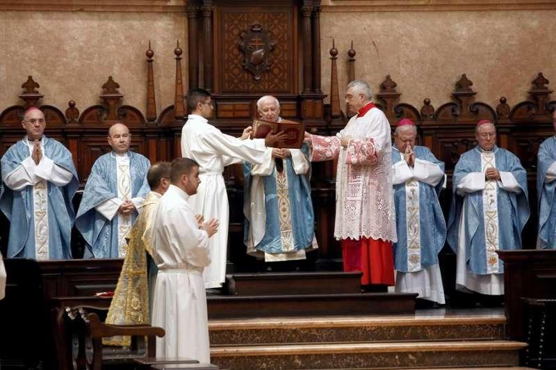 Un momento de la eucaristía celebrada este domingo. EFE/Arzobispado de Valencia