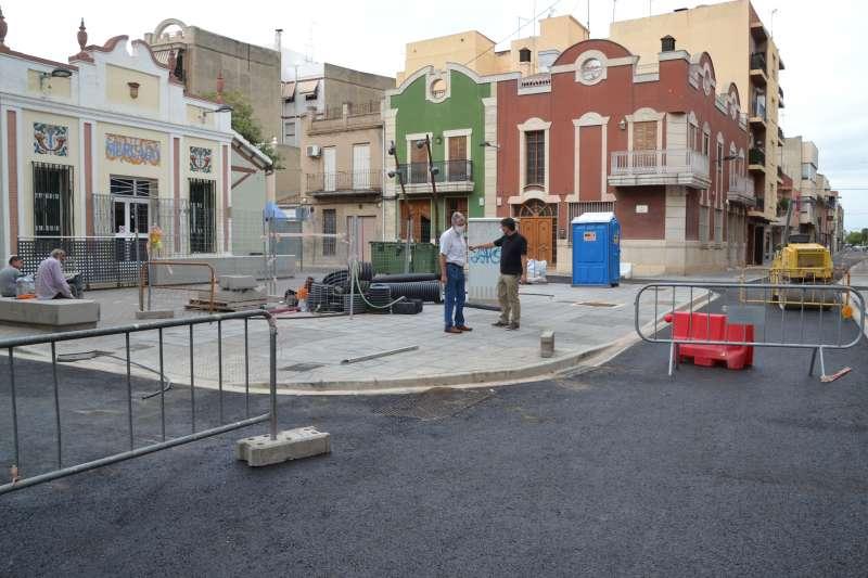 Los trabajos en el centro de Albal.EPDA
