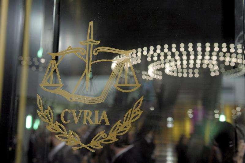 Imagen de archivo del logotipo del Tribunal de Justicia de la Unión Europea. EFE/Archivo