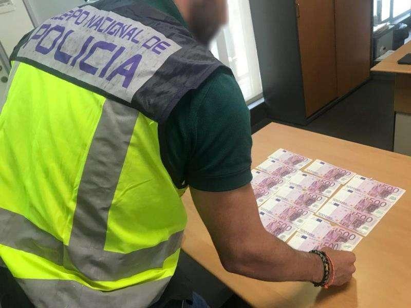 Billetes falsos utilizados para cometer una estafa en un casino de Alicante. EFE/Policía