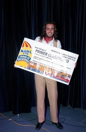 El ganador del cincurso de Talento Flamenco en Marina d