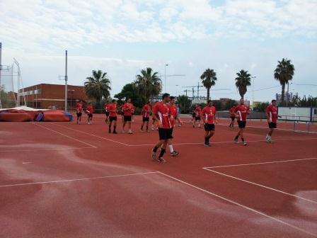 Entrenamiento ante el primer partido pretemporada. Foto: EPDA