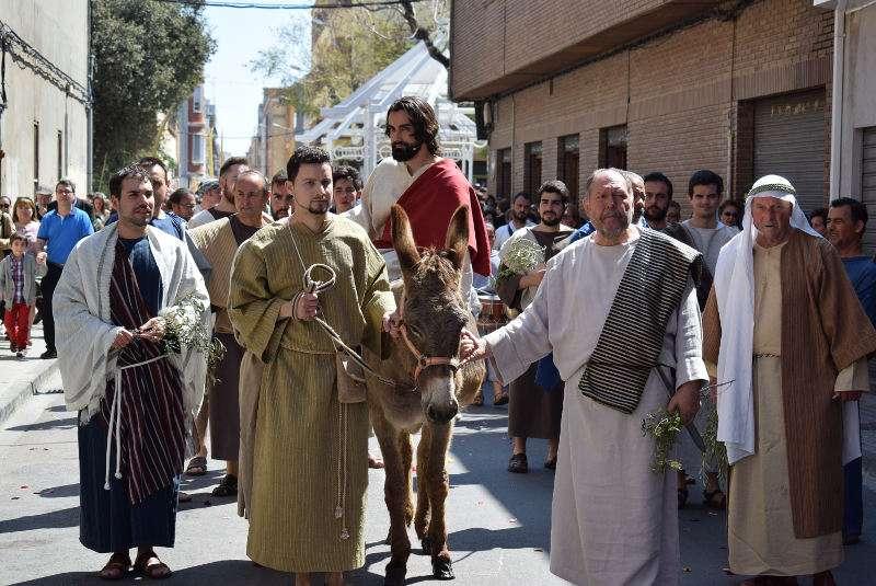 Representación en vivo en la Semana Santa de Benetússer. EPDA