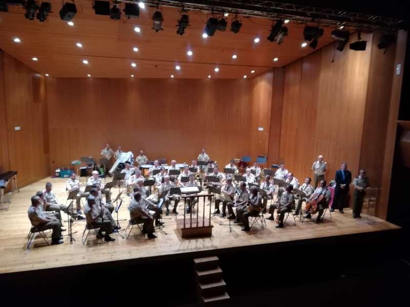 Concierto que interpretaron las Bandas de Música del Cuartel general Terrestre de alta disponibilidad y la Unión M. Casinense