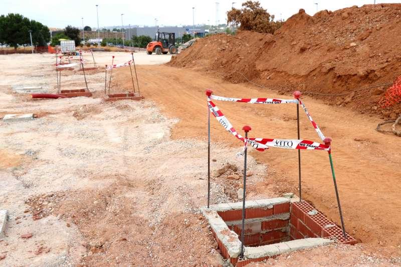 Obras para la construcción del nuevo centre deportivo. EPDA