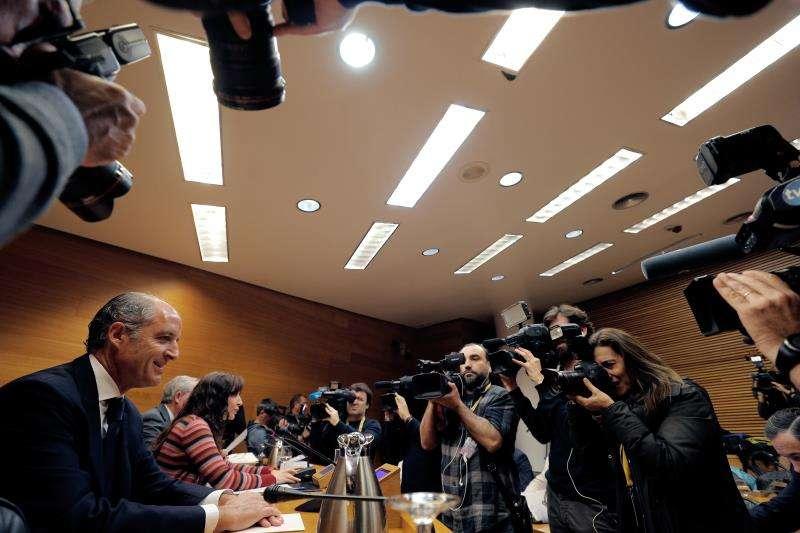 El expresidente de la Generalitat, Francisco Camps, durante su comparecencia en la comisión de investigación del caso Imelsa de Les Corst Valencianes. EFE