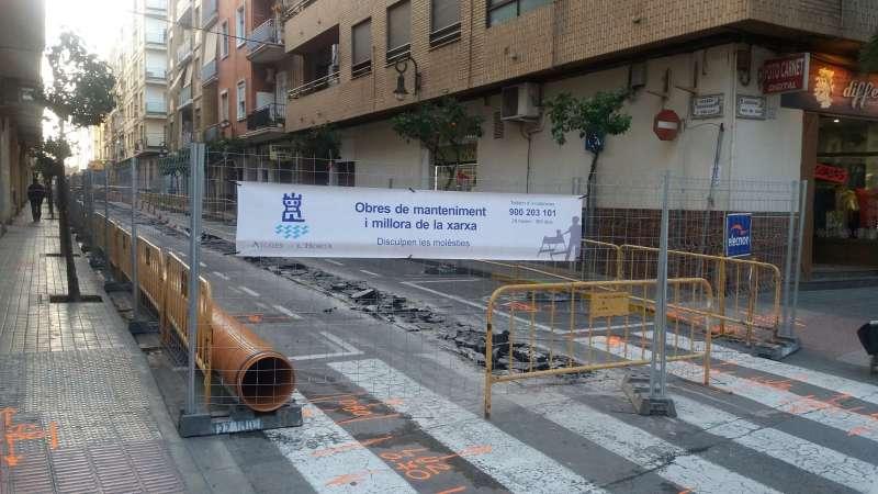 Inicio de las obras en las calles Menéndez y Pelayo