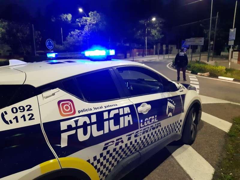 Control de la Policía Local de Paterna. EPDA