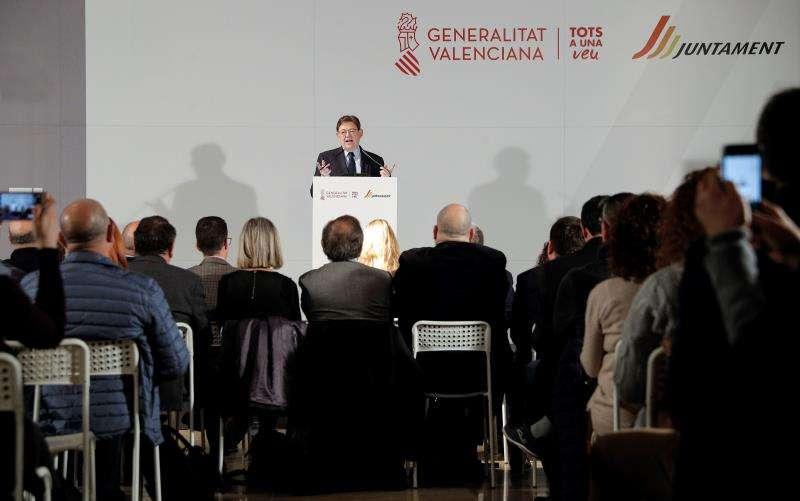 El president de la Generalitat, Ximo Puig, en un acto celebrado hoy. EFE