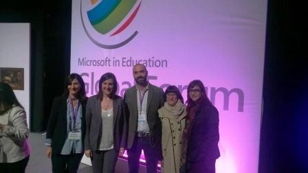 Esta mañana en el Foro Mundial de la Educación 2014 organizado por Microsoft.