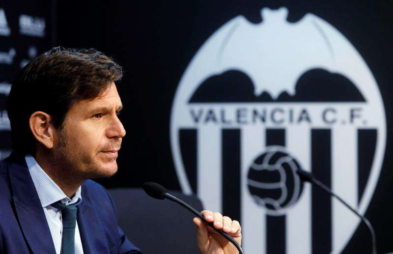 El director general del Valencia CF, Mateu Alemany. EFE/Archivo